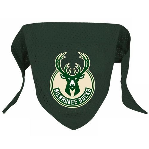 Hunter MFG Milwaukee Bucks Mesh Dog Bandana, Small
