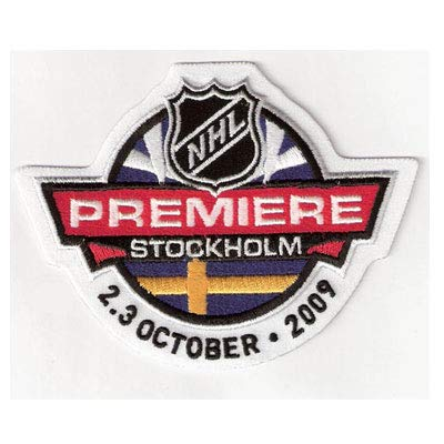 Amazon.com  2009 NHL Premiere Game in Stockholm Jersey Patch (Red ... eb43913e3