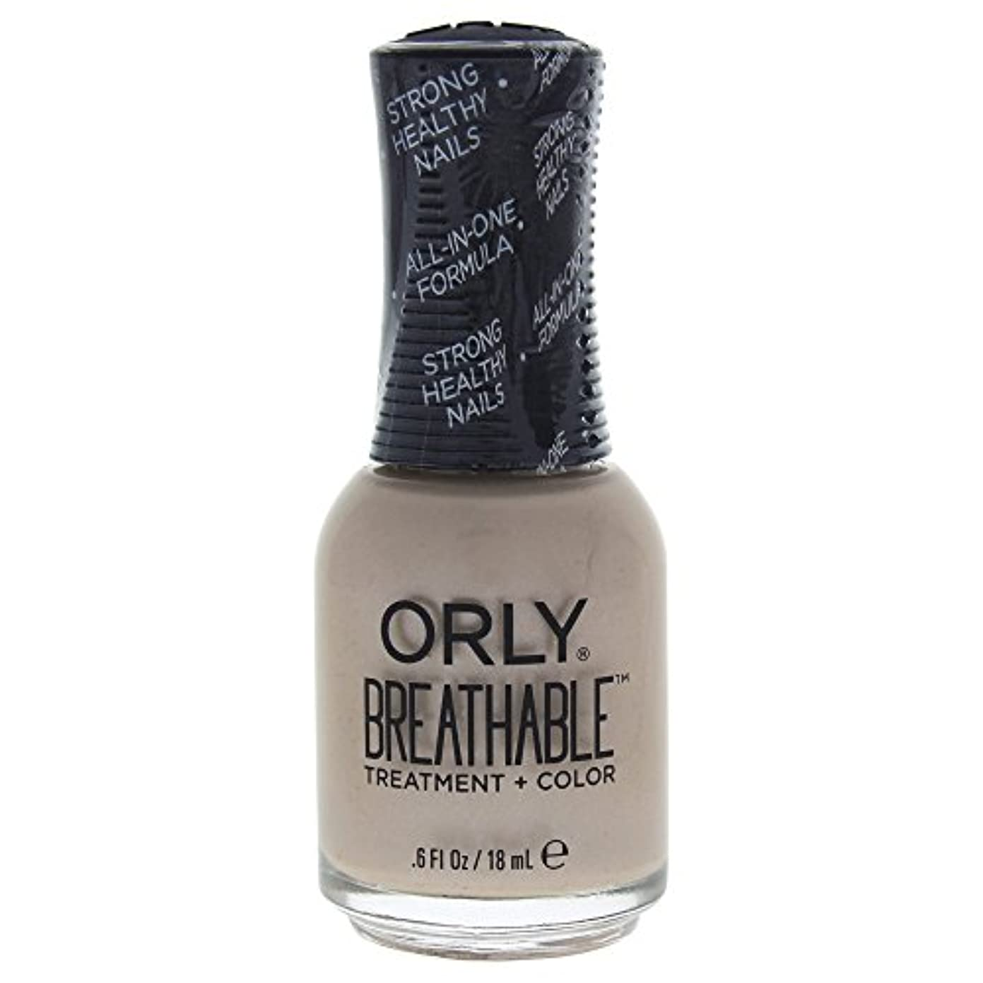発表性格石化するOrly Breathable Treatment + Color Nail Lacquer - Heaven Sent - 0.6oz / 18ml