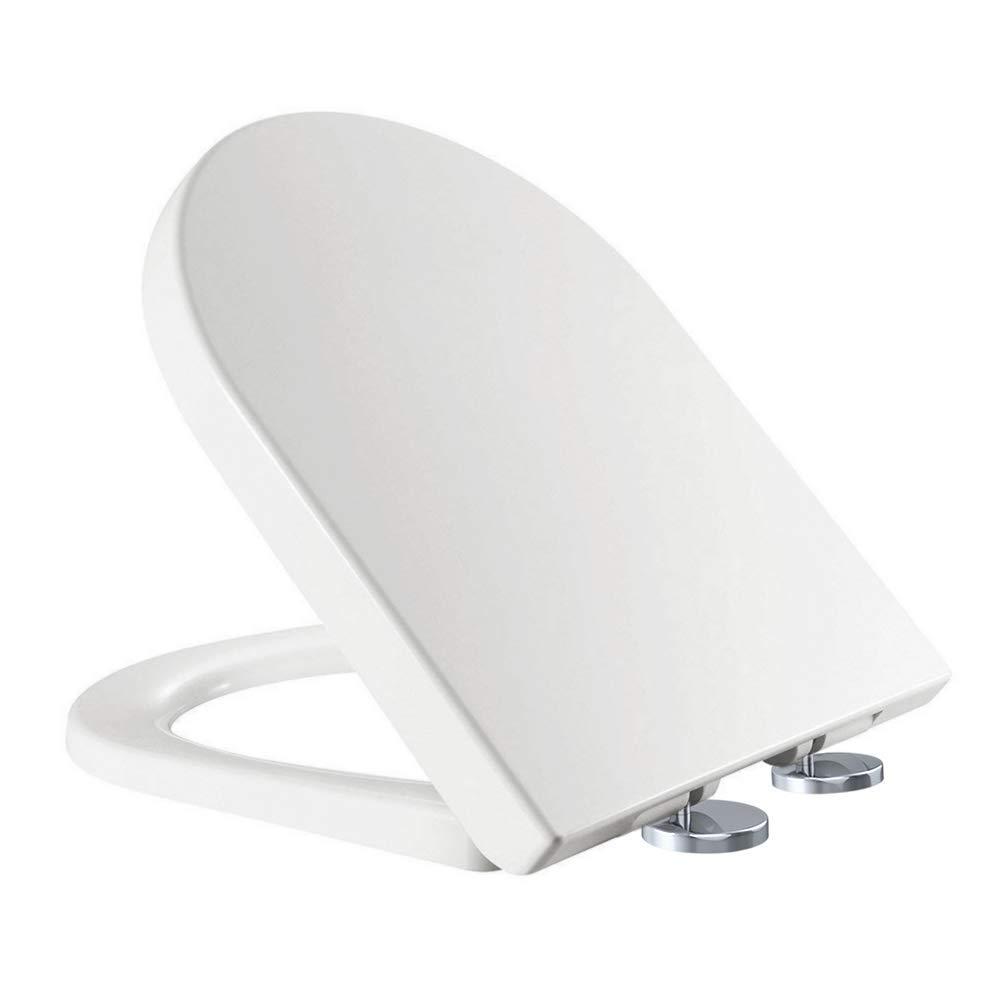 Copriwater Antibatterico Soft Chiusura Rallentata Facile Ovale Sgancio Rapido Cerniera Regolabile Coperchio del Coperchio del WC a Forma di O Standard per WC Accessori per Bagno di Famiglia