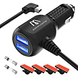 Car Charger Compatible for Garmin Nuvi, APPHOME 2 USB Ports 12V/36V Garmin GPS Charger Car Vehicle Power Adapter Built-in Mini USB Cord Cable Compatibe for Garmin GPS Nuvi 2539LMT 2597LMT Dashcam