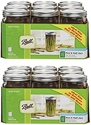9 pk Ball  Wide Mouth  Canning Jar  24 oz