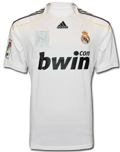 Adidas - REAL MADRID 1ª CAMISETA 09/10 color: Blanco talla: XL