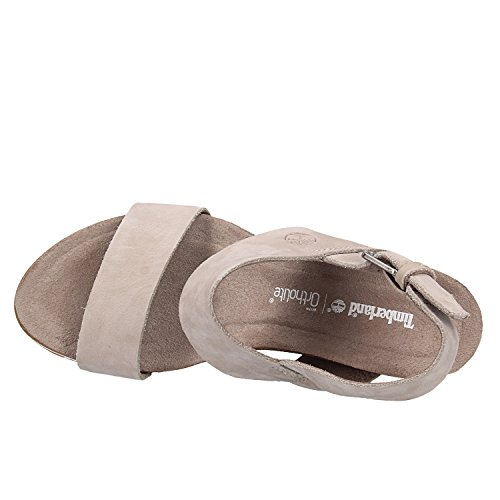 Women's Timberland Sunset Black Mules Capri Taupe Wedge RfnZTq