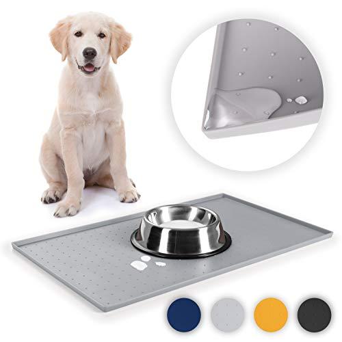 EVERANIMALS rutschfeste Napfunterlage Hund Katzen - Silikonmatte Fressnapf-Unterlage, 2 Größen / 4 Farben