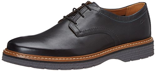 Clarks Newkirk Plain, Brogues Homme Noir (Black Leather)