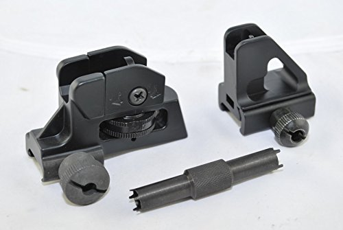 TacBro - Low Profile Detachable Front Sight + Tactical 4/15AR Match Rear Sight + AR15/M16 A1/A2 Front Sight Tool by TACBRO