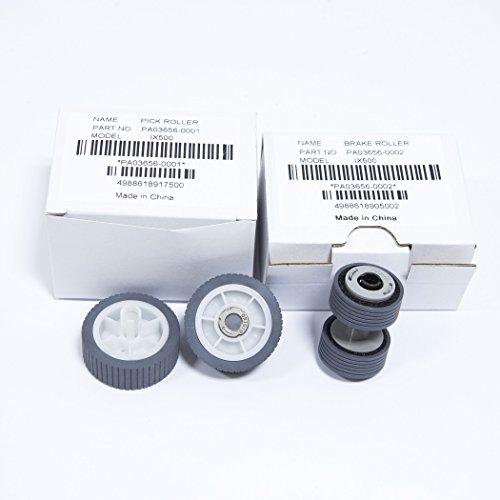 YANZEO PA03656-0001 PA03656-E958 Scanner Brake PickUp Roller Kit For Fujitsu ScanSnap iX500, iX500 Deluxe by Yanzeo (Image #7)