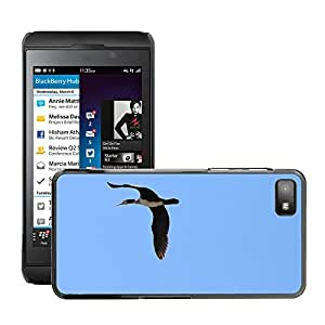 Hot Style Cell Phone PC Hard Case Cover // M00130551 Blue Duck Flight Platyrhynchos Sky // BlackBerry Z10