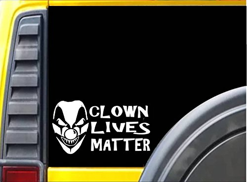 [Clown Lives Matter J812 8 inch sticker Decal] (Twisty The Clown Costume Mask)