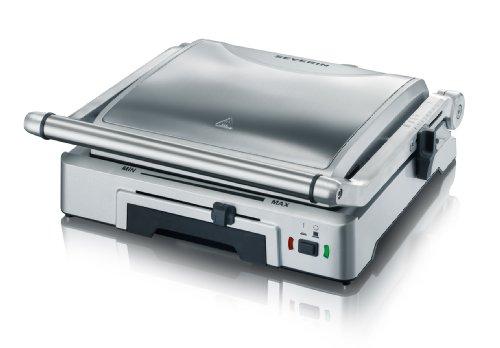Severin KG 2392 Bistecchiera elettrica, 1800 W, 2 piastre rimovibili e antiaderenti per diversi tipi di cottura, Acciaio… 1