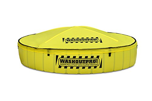 Washout Pro 6664150PRO Instant Concrete Washout Containment Basin with Rain-Shedding Cover, 150 gal Capacity, 13