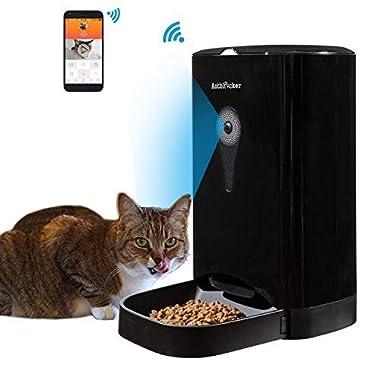 4.5L Automatic Cat Feeder Buildin HD Camera and Audio Communication, APP Control Black-1