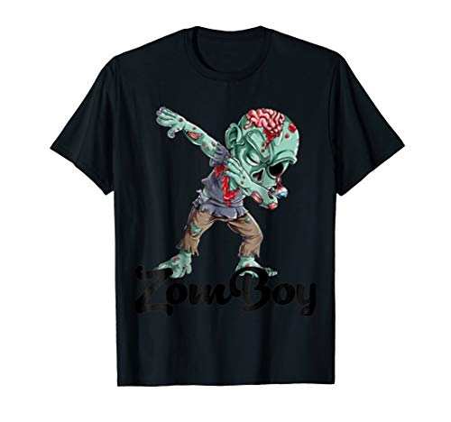 Dabbing Zombie Creepy Funny Halloween Kids dab Costume Tees