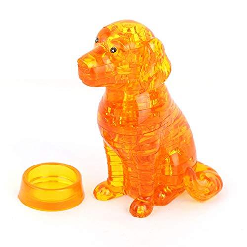 [해외]Aland Lovely DIY Assembly 3D Puppy Dog Puzzles Building Blocks Educational Kids Toy 3D self-Assembled Dog Crystal Blocks Yellow / Aland Lovely DIY Assembly 3D Puppy Dog Puzzles Building Blocks Educational Kids Toy 3D self-Assembled...