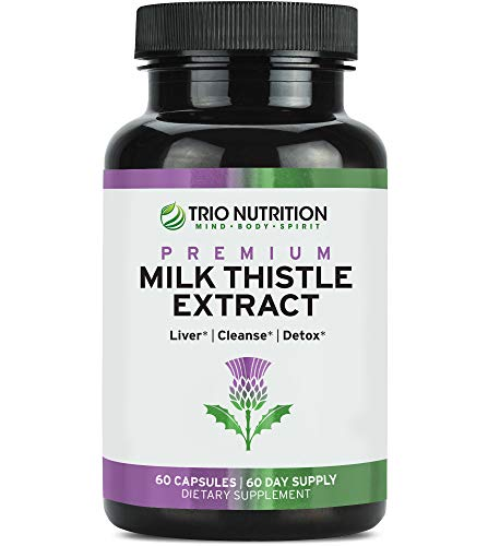 Milk Thistle Capsules Liver Cleanse Supplement - 175 mg Milk Thistle Extract with Silymarin - Made in USA - Liver Support, Liver Cleanse & Detox*