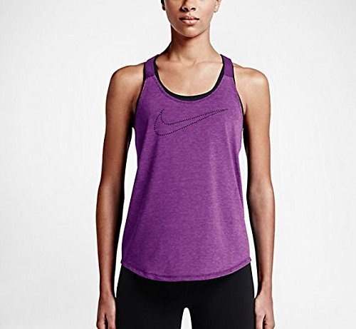 Nike Women's Dri-Fit Training Top 686107, Cosmic Purple Heather/Cosmic Purple, XL