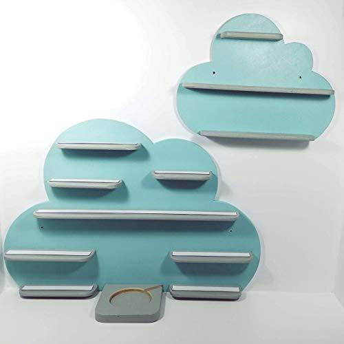 2er Set große Wolke + kleine Wolke, Regal ideal zur ...