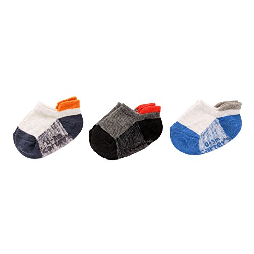 Carter's Toddler Boys' Ankle Socks (3 Pack), space dye no show, 4-6 Years - Kids 3pk No Show Sock