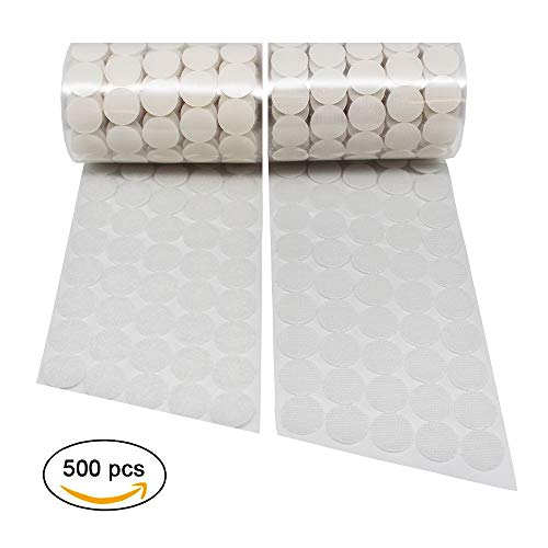"Sticky Back coins Hook & Loop | 500 pcs (250 Pair Sets) 3/4"" Diameter Self-Adhesive Dots"