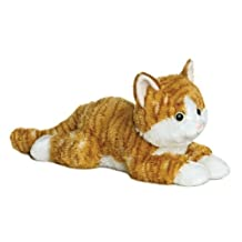 "Chester Orange Tabby Cat 12"" Flopsie Stuffed Animal"