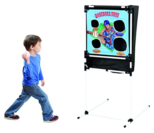 Baseball Toss Pitching Practice Pockets with Metal Stand and Inflatable Challenge for Indoor/Outdoor Use Toss EndZone Challenge for Indoor/Outdoor Use by Prextex