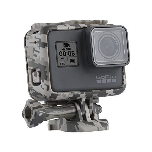 TELESIN Camouflage Protective Frame Mount Housing Camera Border with Quick Release Buckle and Screw for GoPro Hero 6 Hero 5 Accessory (Hero Camouflage)