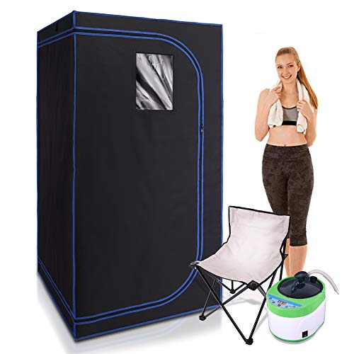 SereneLife SLISAU35BK Full Size Portable Steam Sauna