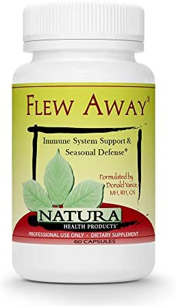 Natura Health Products – Flew Away – Immune System Support Seasonal Defense Featuring Elderberry Extract – 60 Capsules