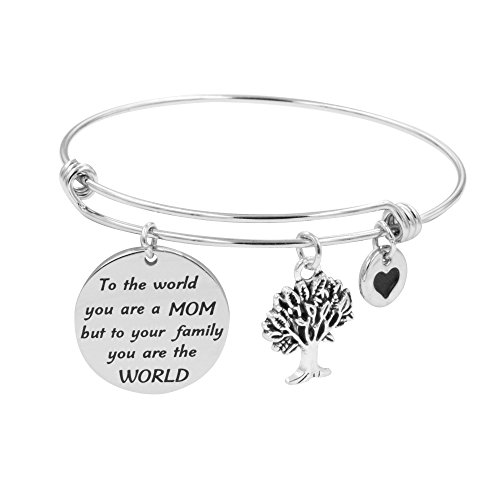 Inspirational Jewelry Gift for Mother Mom Mother's Day Bangle Bracelets for Women]()