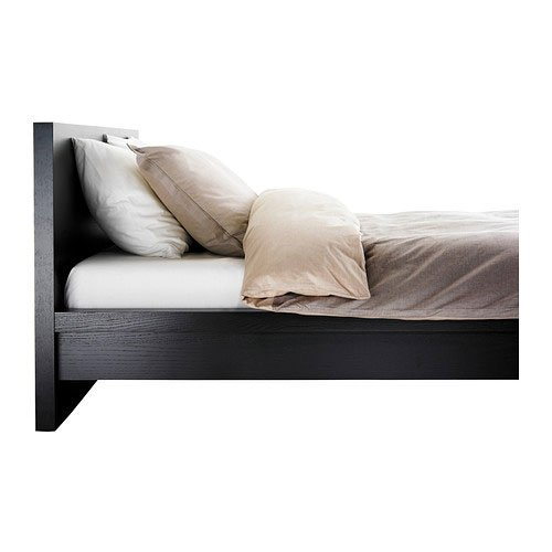 Amazon.com: Ikea Malm Black-brown Queen Size Bed Frame Height ...