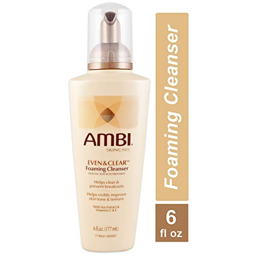 Ambi Even and Clear Foaming Cleanser, 6 Ounce