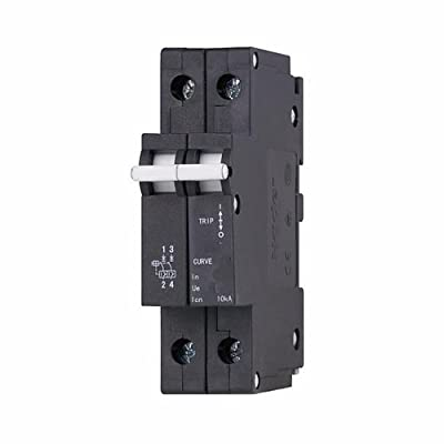 ASI NDB5-J415-2P DIN Rail Mount Circuit Breaker, UL 1077 Supplemental Protection, 2 Pole, 15 amp, 240/480V