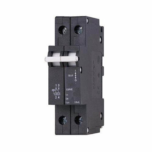ASI NDB5-J416-2P DIN Rail Mount Circuit Breaker 2 Pole 16 amp UL 1077 Supplemental Protection 240//480V