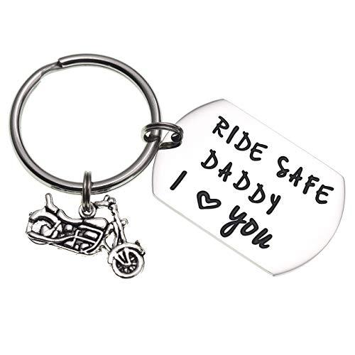 LParkin Ride Safe Daddy Keychain Motorcycle Gift Dad Keychain I Love You Daddy Keychains Gift for Dad Motorcycles (Keychain) (Best Quality Motorcycle Chain)