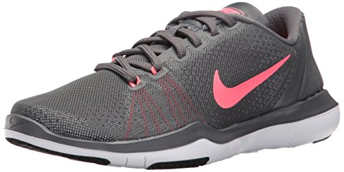 NIKE Womens Flex Supreme TR 5 Wide Shoes Grey HOT Punch White Black Size 8 by NIKE (Image #1)