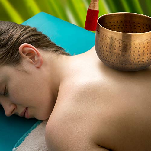 Meditative Brass Singing Bowl with Mallet and Cushion - Tibetan Sound Bowl for Energy Healing, Mindfulness, Grounding, Zen, Meditation - Exquisite, Unique Home Decor and Gift Sets by Telsha (Image #8)