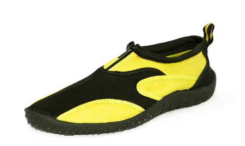 648212aeff94 Galleon - Rockin Footwear Men s Aqua Fire Yellow Rubber Water Shoe Size 9