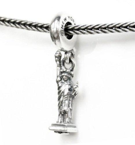 cef055ea0 Sterling Silver USA Love W/New York Statue of Liberty Freedom Bead for  European Chamilia Biagi Troll Pandora Charm Bracelets: Amazon.ca: Jewelry