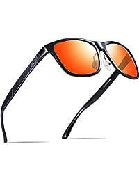 Men's Hot Retro Metal Frame Driving Polarized Wayfarer Sunglasses Al-Mg Metal Frame Ultra Light