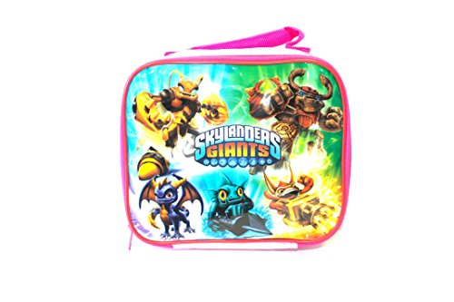 "Skylanders Giants Multi Character Pink Soft Sided Lunch Box (9"" X 9"" X 3"")"
