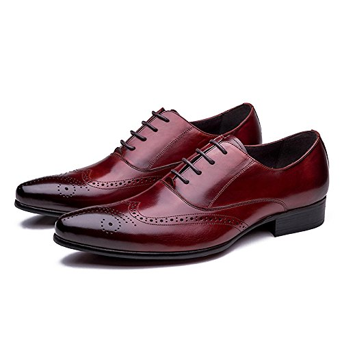 M Exquisite for Shoes Wing Oxford Tip Men H Wine Design Classical Red J X0dqnBxaw0