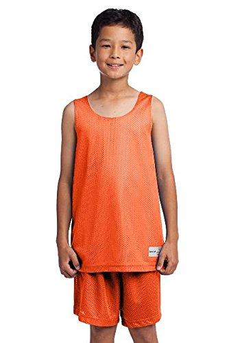 Sport-Tek Youth PosiCharge Classic Mesh Reversible Tank, Deep Orange, (Sport Tek Youth Color)
