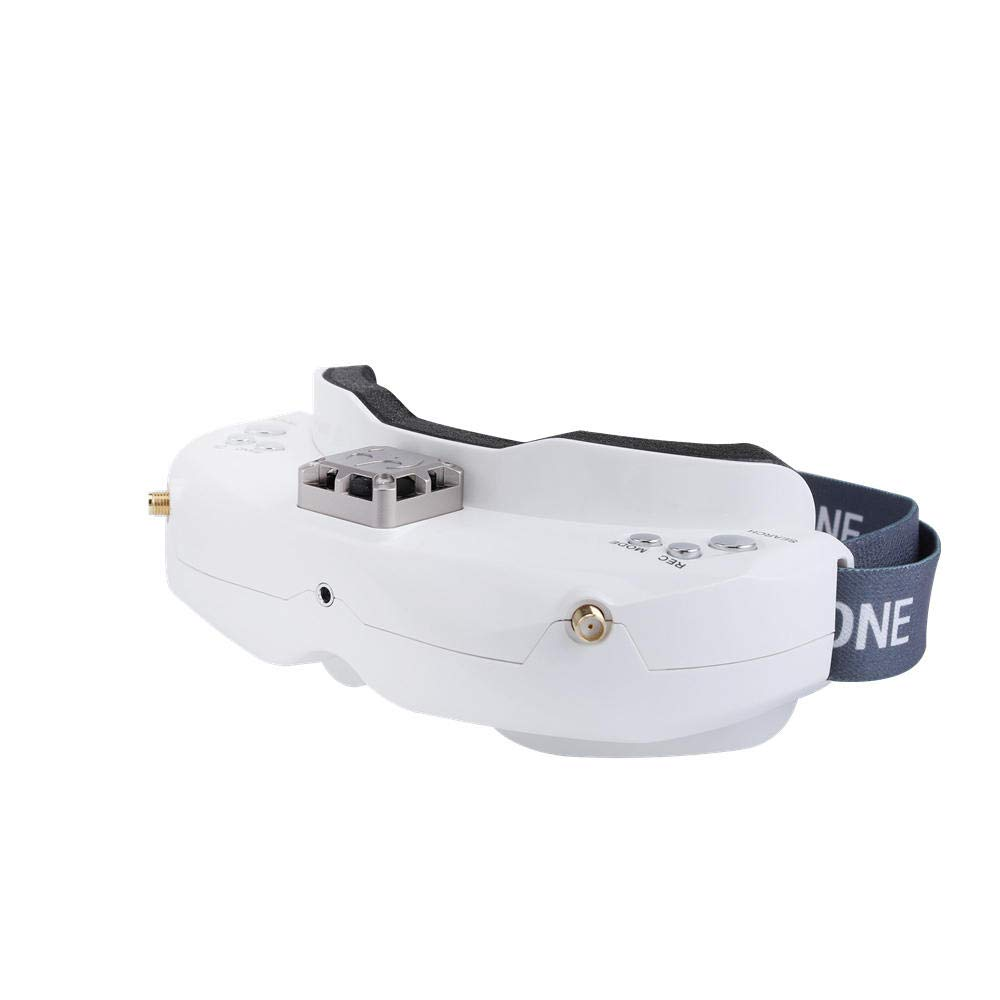 BeesClover SK-YZ-ONE SKY02C 5.8Ghz 48CH Diversity Goggles Support DVR HDMI with Head Tracker Fan for RC Racing Drone White