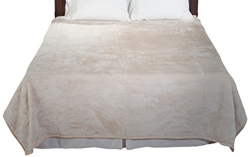 Lavish Home Solid Soft Heavy Thick Plush Mink