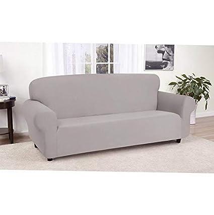 Amazon.com: Hebel Solid Jersey Sofa Cover | Model SF - 399 ...