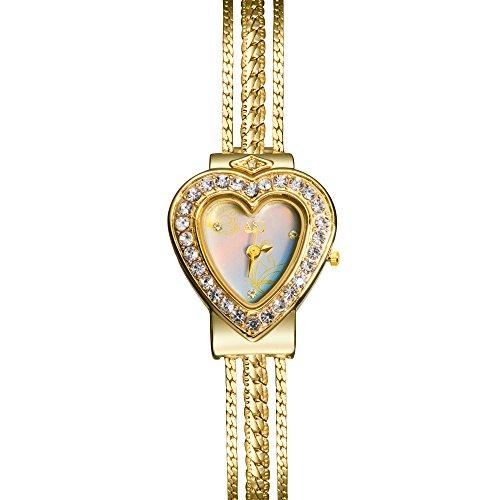 TAWURS Women's Elegant Bracelet Watch Fashion Jewelry (Gold 1) from TAWURS