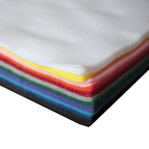 25 Sheet Assorted Acrylic Craft Felt