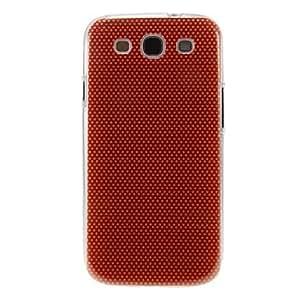 ZCL-Manchas rojas de tela patrón de la cubierta del estuche duro de protección de plástico para el Samsung Galaxy S3 I9300