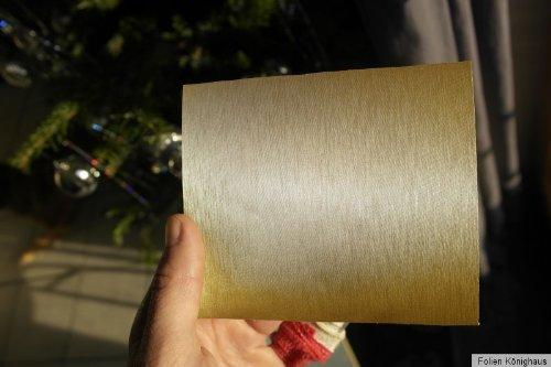 /Pellicola di alluminio spazzolato oro pellicola 300/x 152/cm auto applicazione senza bollicine con istruzioni K/önighaus/